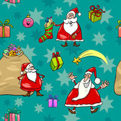 Christmas cartoon seamless pattern wrapper — Stock Vector