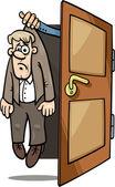 Fired man cartoon illustration — Stock Vector
