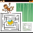 Cartoon maze or labyrinth game — Stock Vector #35269699