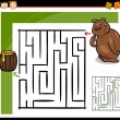 Cartoon maze or labyrinth game — Stock Vector #35269819