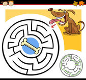 Cartoon maze or labyrinth game — Stock Vector