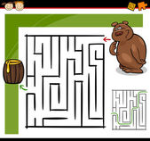 Cartoon-labyrinth oder labyrinth-spiel — Stockvektor