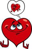 Heart in love cartoon illustration — Stock Vector