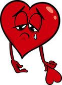 Sad broken heart cartoon illustration — Stock Vector