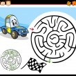 Cartoon maze or labyrinth game — Stock Vector #35748927