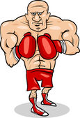 Boxer sportsman cartoon illustration — Stock Vector