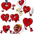 Valentinstag Cartoon Illustration liebe Satz — Stockvektor  #36169613
