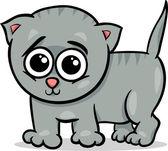 Baby cat kitten cartoon illustration — Cтоковый вектор
