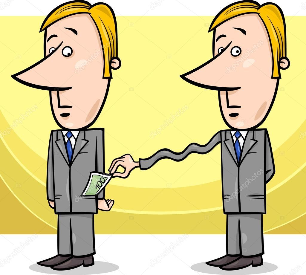 商人和税收的卡通