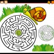 Cartoon maze or labyrinth game — Stock Vector #37129723