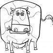 Cow farm animal coloring page — Stock Vector #37451169