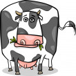 Vector de stock : Cow farm animal cartoon illustration