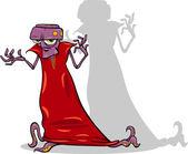Personagem de desenho animado alienígena mal — Wektor stockowy