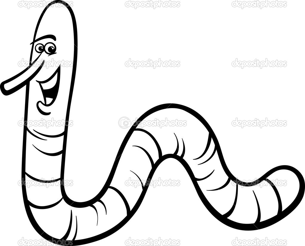 Free coloring pages of no worm for Inchworm coloring page