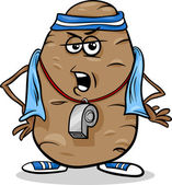 Couch potato saying cartoon — Stock Vector