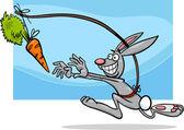 Dangling a carrot saying cartoon — Stock Vector
