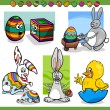 Easter themes set cartoon illustration — Stock Vector #38977495