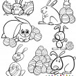 Easter cartoons for coloring book — Stock Vector #39472151