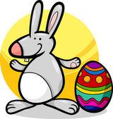 Funny easter bunny cartoon illustration — Stock Vector