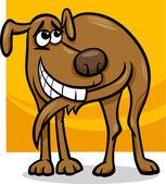 Dog chasing tail cartoon illustration — Stock Vector