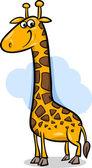 Cute giraffe cartoon illustration — Stock Vector