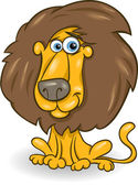 有趣的狮子卡通插图 — 图库矢量图片