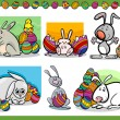 Easter themes set cartoon illustration — Stock Vector #40150037