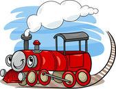 機関車の漫画やエンジン文字 — ストックベクタ