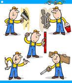 Travailleurs manuels ou des ouvriers caractères défini — Vecteur