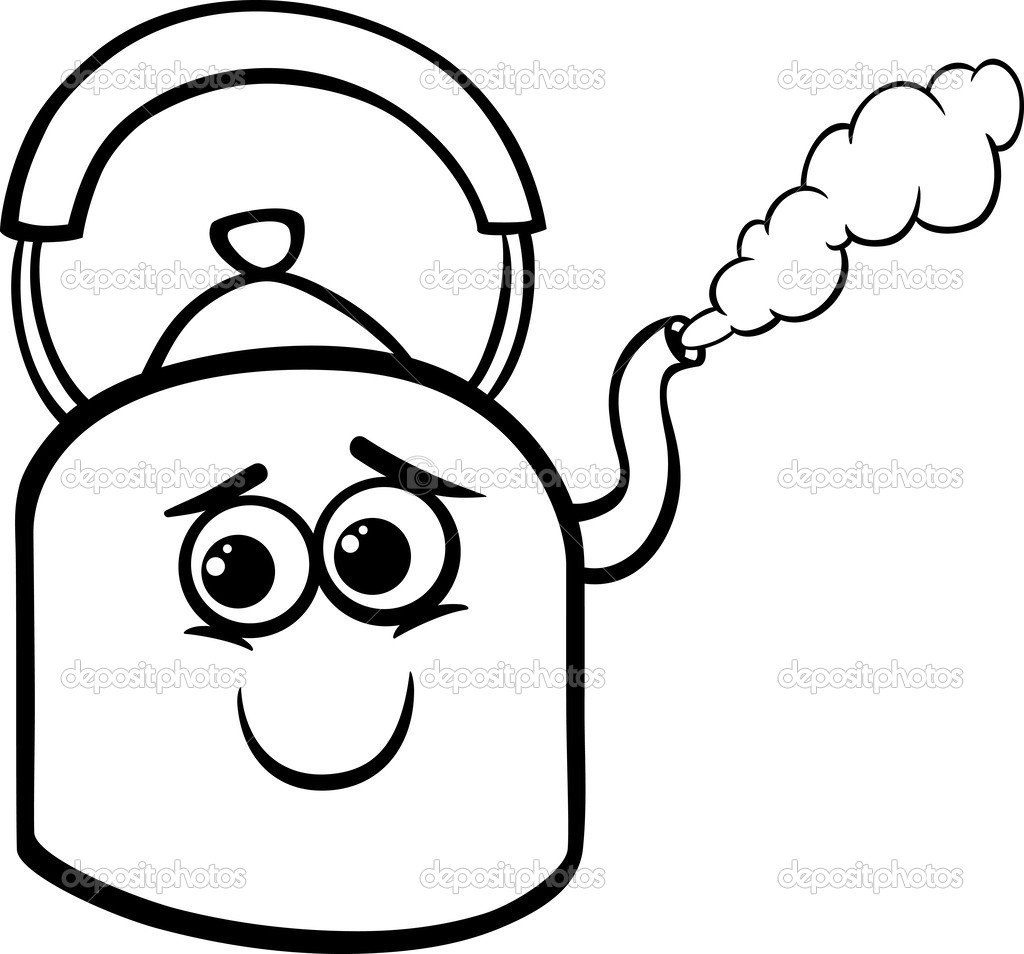 Steam Coloring Page