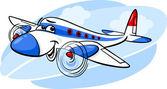 Luft-flugzeug-cartoon-illustration — Stockvektor