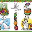 Постер, плакат: Easter themes set cartoon illustration