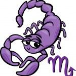 Scorpio zodiac sign cartoon — Stock Vector #41255305