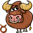 Stock Vector: Taurus or bull zodiac sign