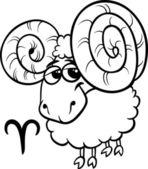 Bélier ou le signe du zodiaque de ram — Vecteur
