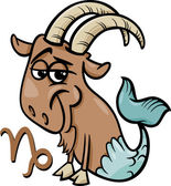 Capricorn or the sea goat zodiac sign — Stock Vector