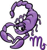 Scorpio zodiac sign cartoon — Stock Vector