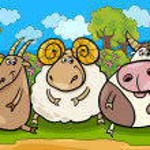 Farm animals group cartoon illustration — Stock Vector #41568979