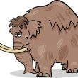 Stock Vector: Mammoth cartoon illustration