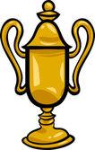 Winner cup clip art cartoon illustration — Stock Vector