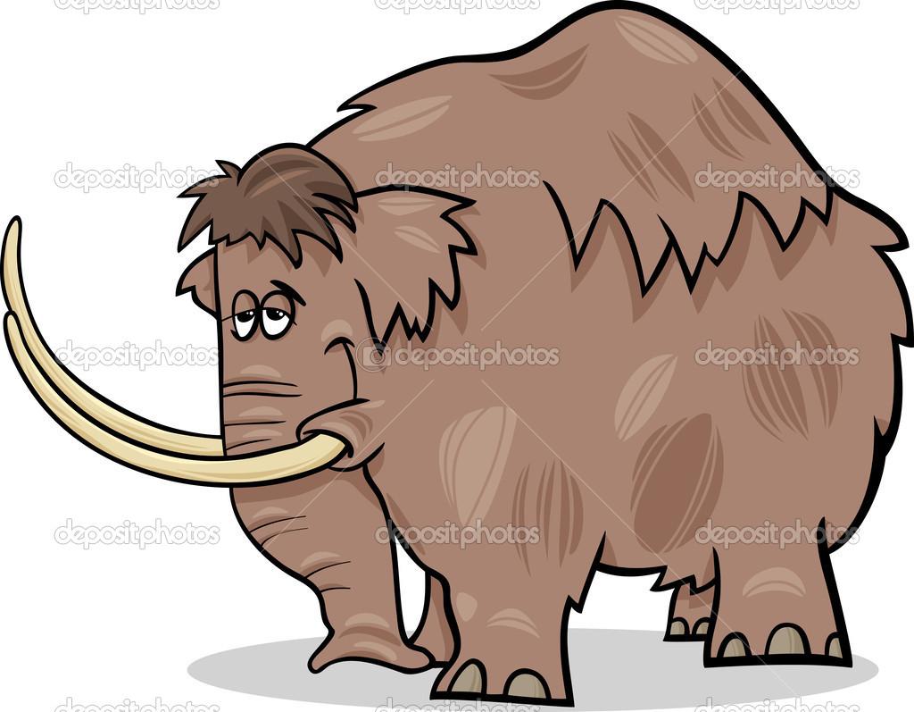 Illustrazione di mammut cartoon — vettoriali stock