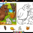 Wild animals coloring page set — Vetorial Stock  #41923317