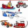 Funny cartoon vehicles and cars set — Stock Vector #41923521