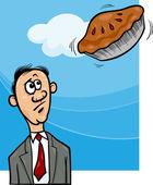 Pie in the sky saying cartoon — Stock Vector