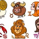 Постер, плакат: Horoscope zodiac signs set