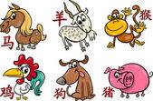 Chinese zodiac horoscope signs — Stock Vector