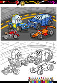 Cartoon cars for coloring book — 图库矢量图片