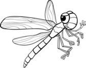 Página de inseto para colorir de libélula — Vetor de Stock