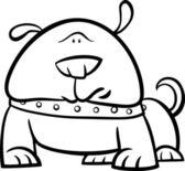Cute dog cartoon coloring page — Stock Vector