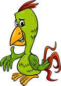 parrot bird cartoon illustration — 图库矢量图片